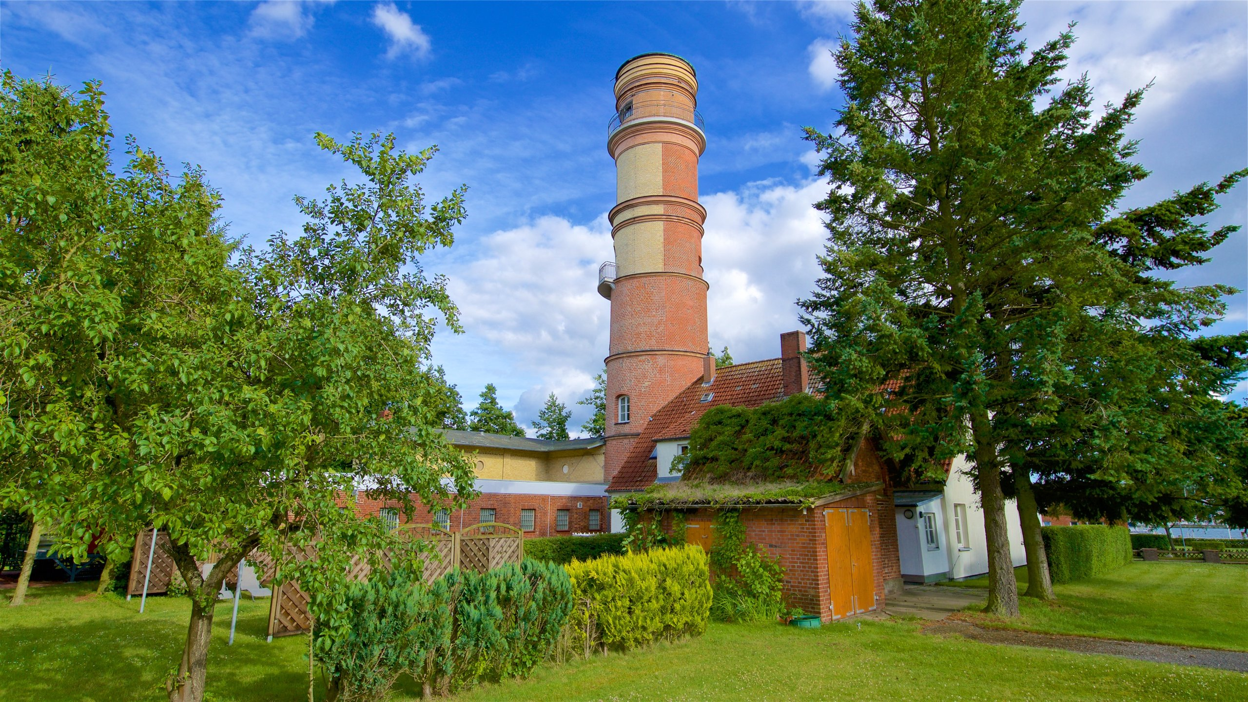 One of the oldest lighthouses on the German Baltic coast is a red-brick beauty containing a maritime history museum and a viewing platform with a panoramic outlook.