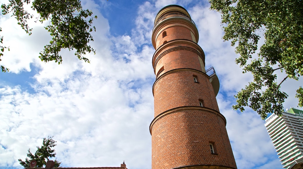 Old Lighthouse Travemuende featuring heritage architecture
