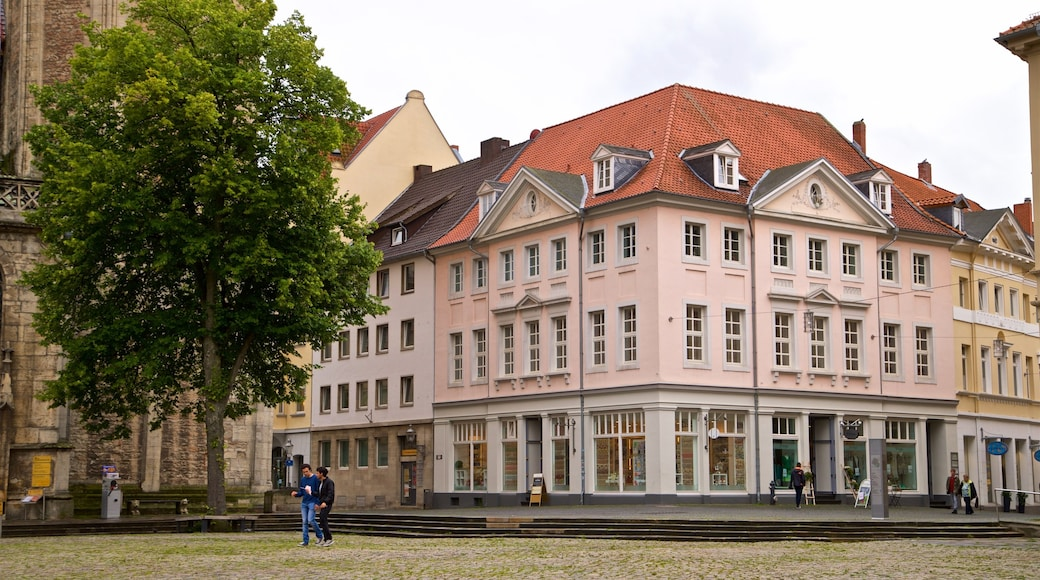 Castle Square showing heritage elements and street scenes as well as a couple