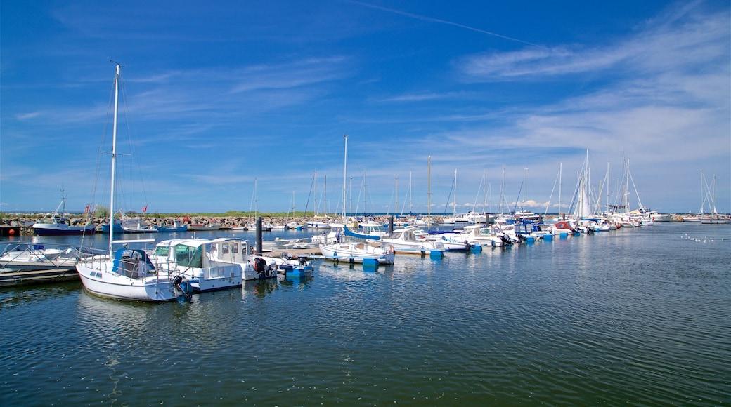 Yachthafen von Kühlungsborn das einen Bucht oder Hafen