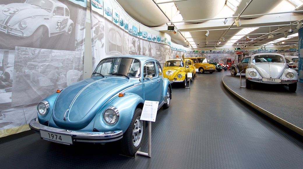 Volkswagen AutoMuseum featuring interior views and heritage elements
