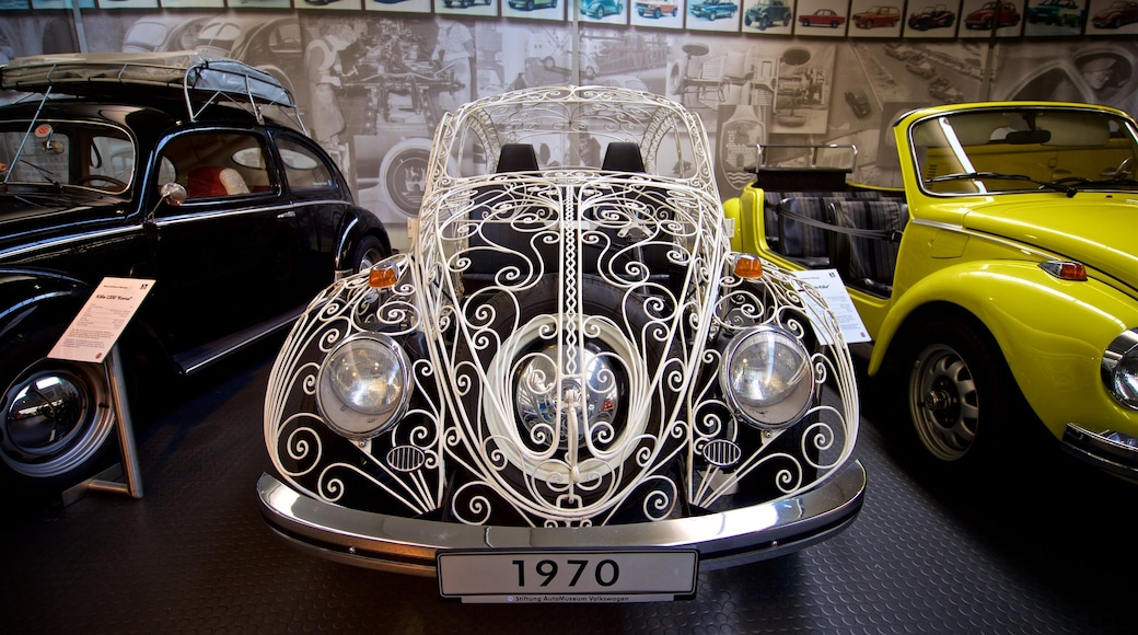 Volkswagen AutoMuseum showing heritage elements and interior views
