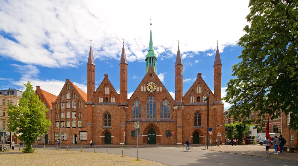Heiligen-Geist-Hospital which includes heritage architecture and a church or cathedral