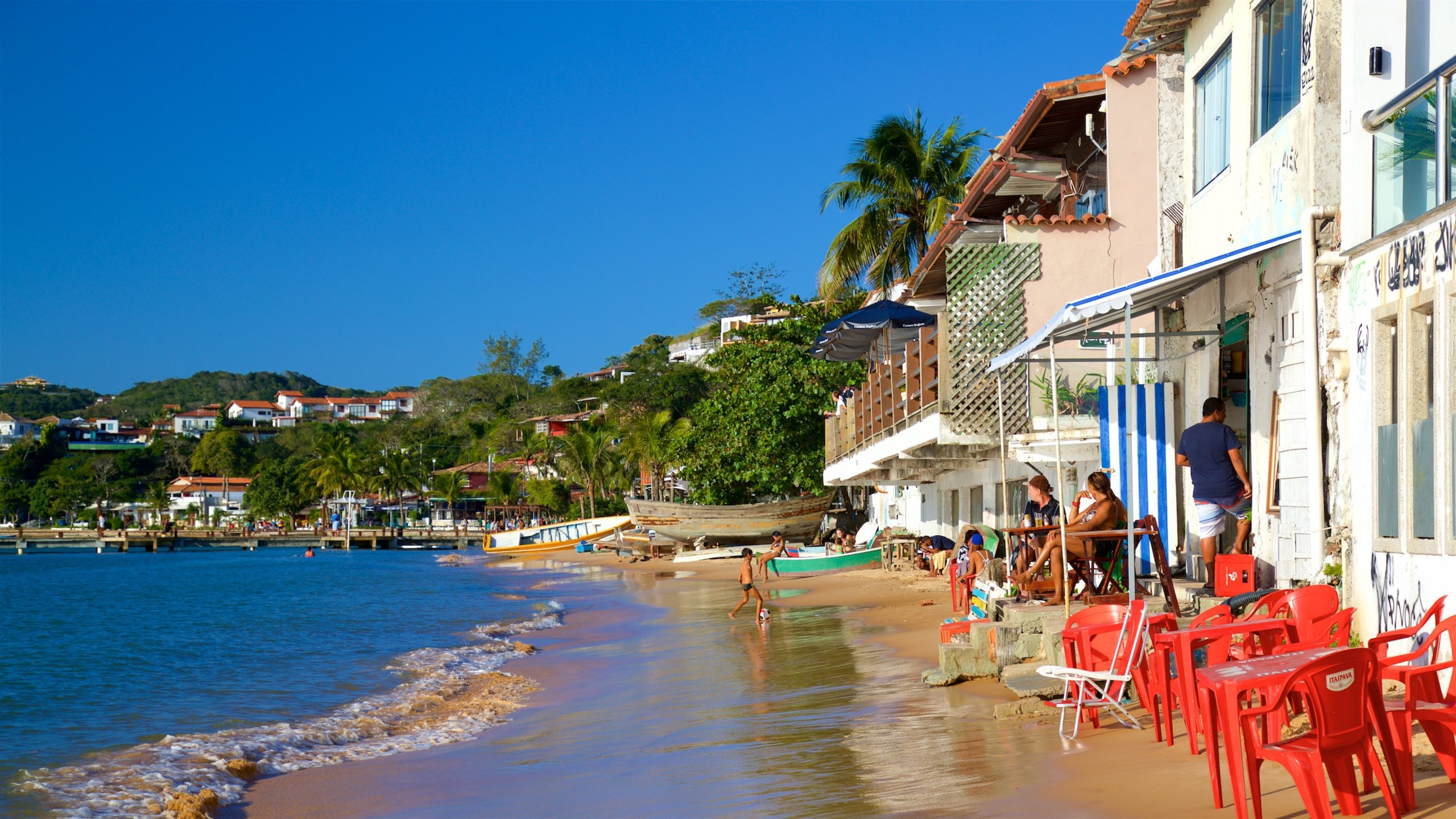 Enjoy a stress-free escape from reality at this pretty beach within easy walking distance of Búzios' town center.