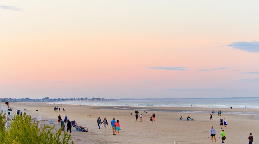 Ogunquit Beach showing a sunset, general coastal views and a sandy beach