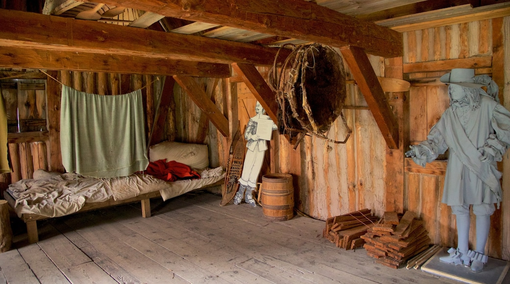 Sainte Marie among the Iroquois showing interior views