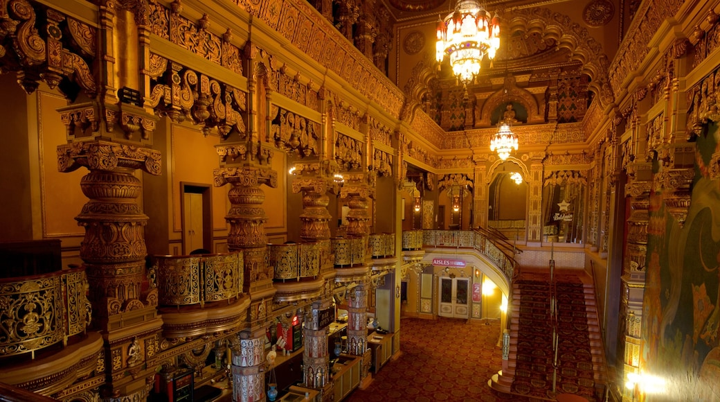 Landmark Theatre featuring heritage elements and interior views