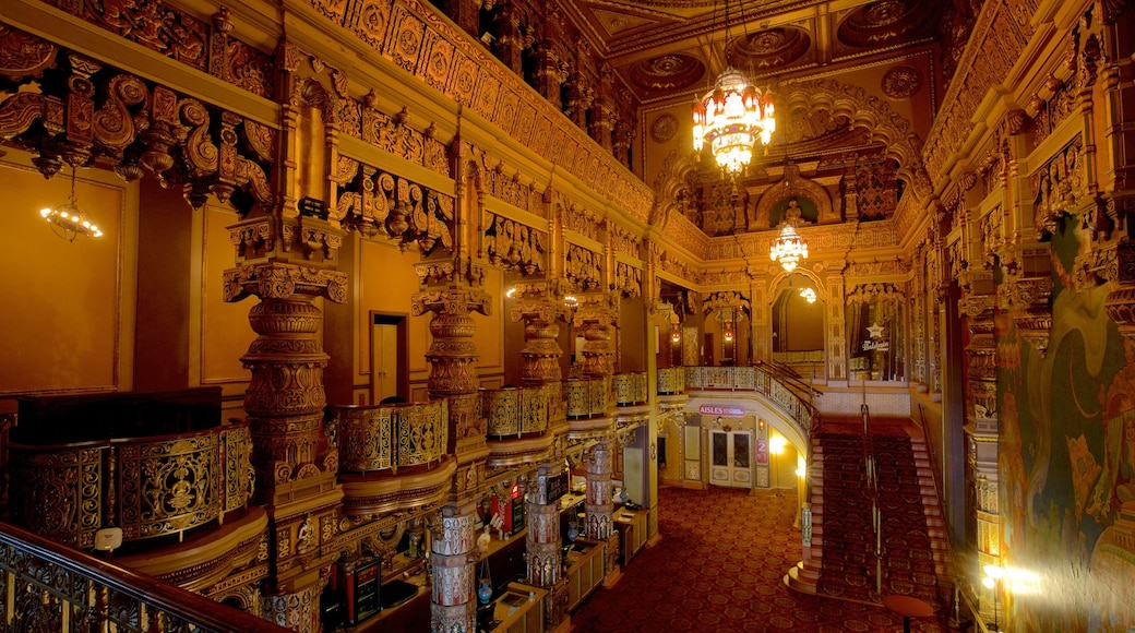 Landmark Theatre showing interior views and heritage elements