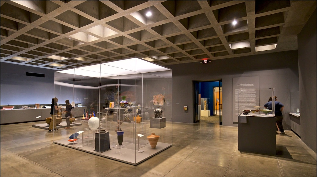 Everson Museum of Art showing interior views as well as a small group of people