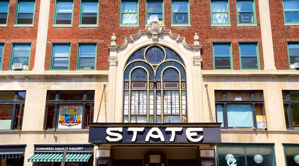 State Theatre showing signage