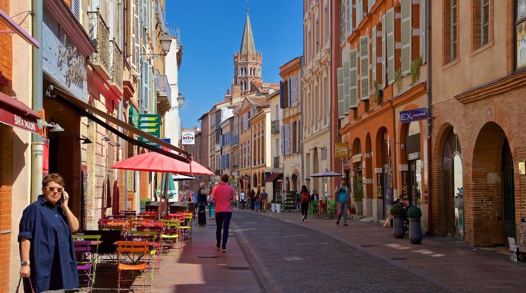 Toulouse mettant en vedette scènes de rue et ville aussi bien que petit groupe de personnes