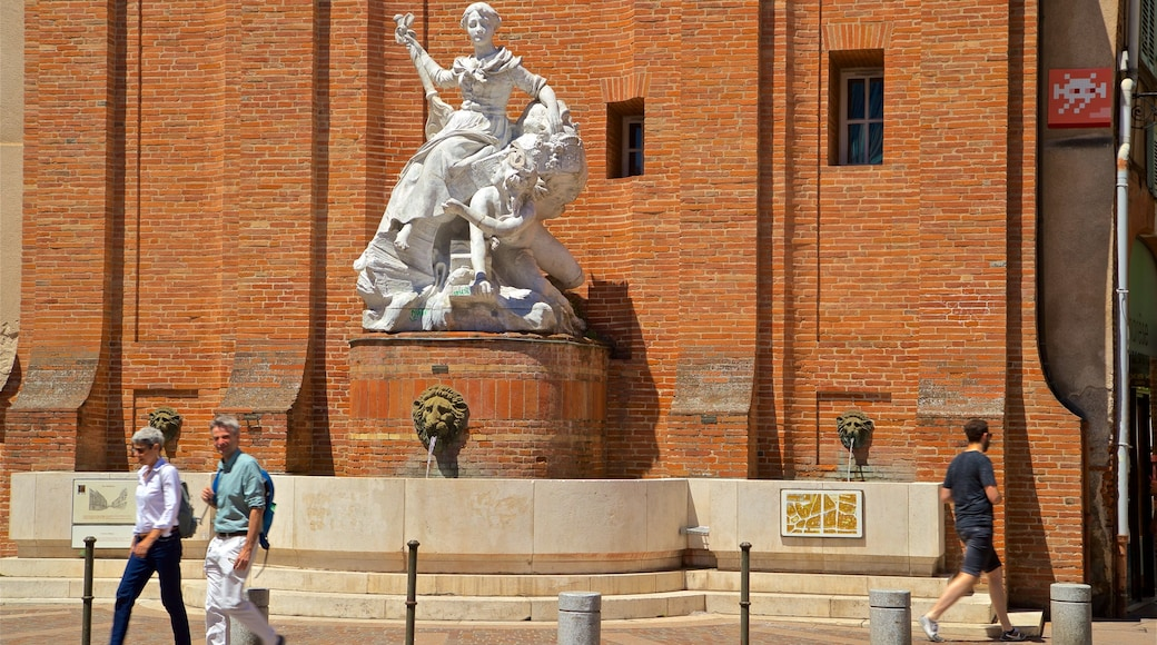 Toulouse qui includes statue ou sculpture et fontaine aussi bien que couple