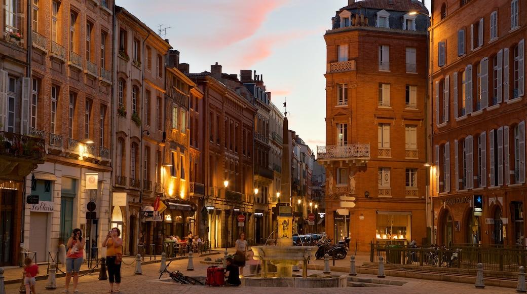 Cathédrale Saint-Etienne mettant en vedette ville, scènes de rue et fontaine