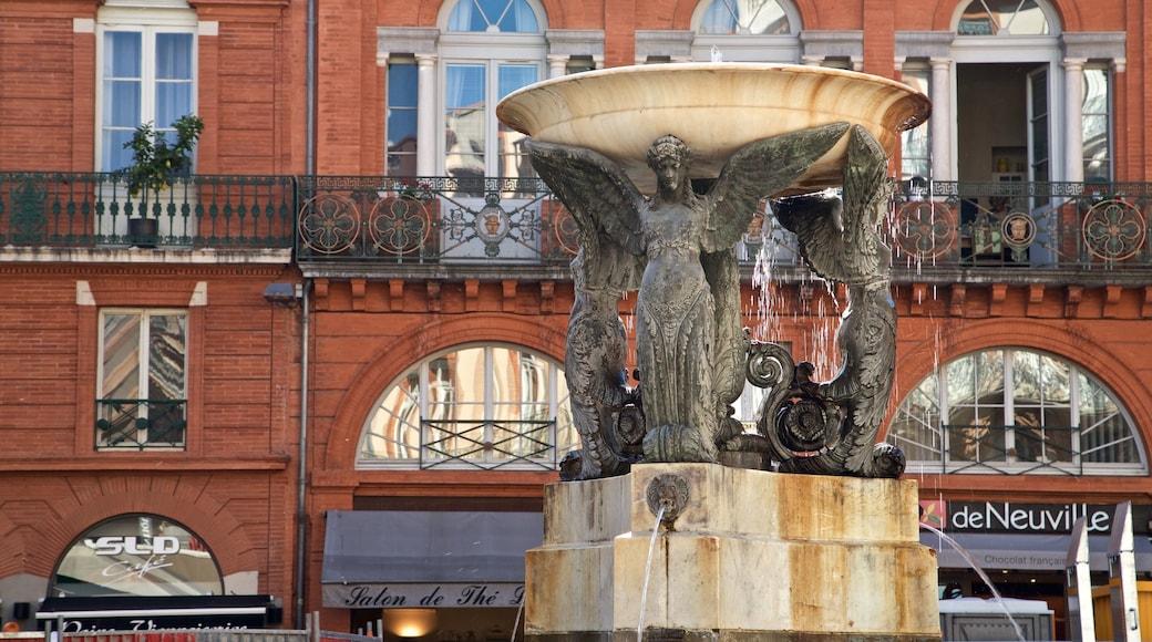 Place Esquirol montrant fontaine
