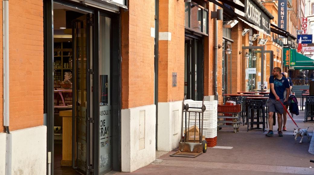 Quartier Victor Hugo montrant animaux domestiques ou inoffensifs et scènes de rue aussi bien que homme