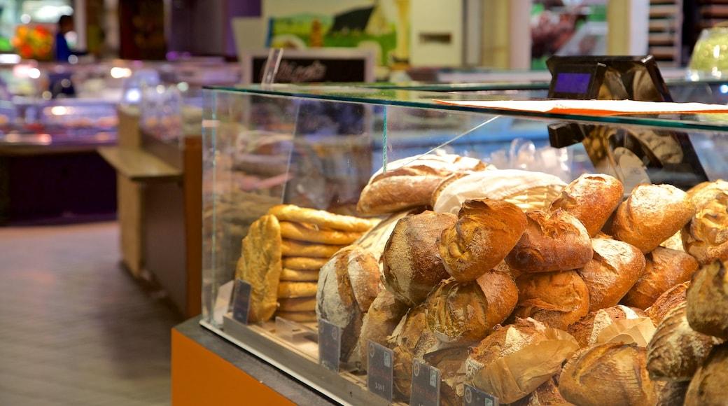 Quartier Victor Hugo montrant vues intérieures, nourriture et marchés