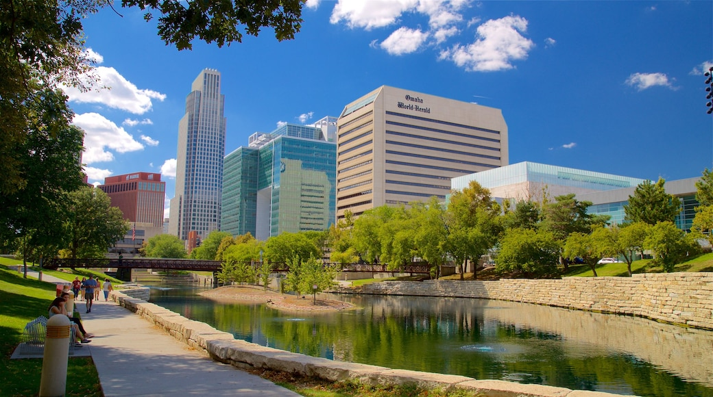 Omaha featuring a skyscraper, a river or creek and a city