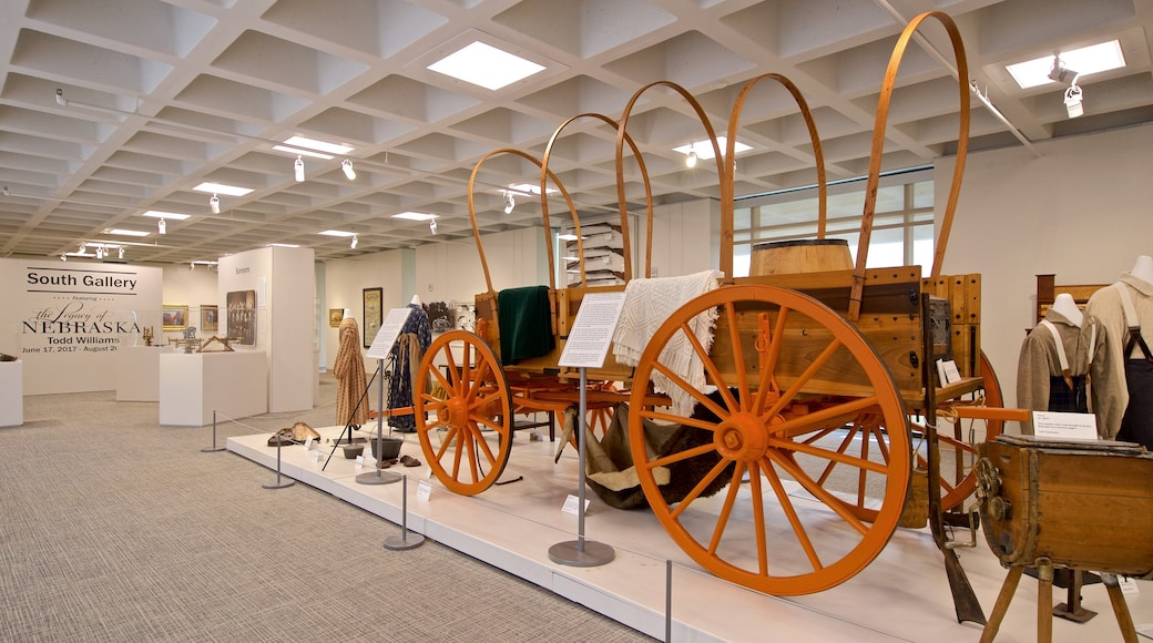 Stuhr Museum of the Prairie Pioneer which includes interior views and heritage elements
