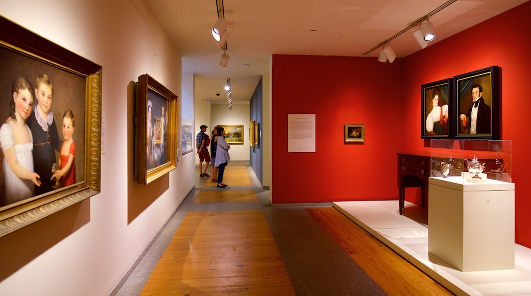 Portland Museum of Art showing art and interior views as well as a small group of people