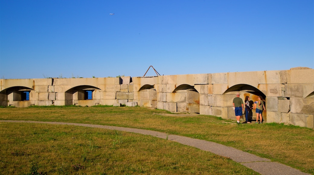 Fort Preble showing a park as well as a small group of people