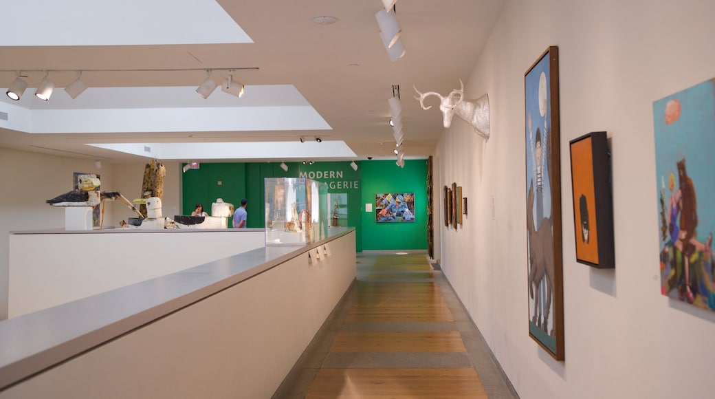 Portland Museum of Art showing art and interior views