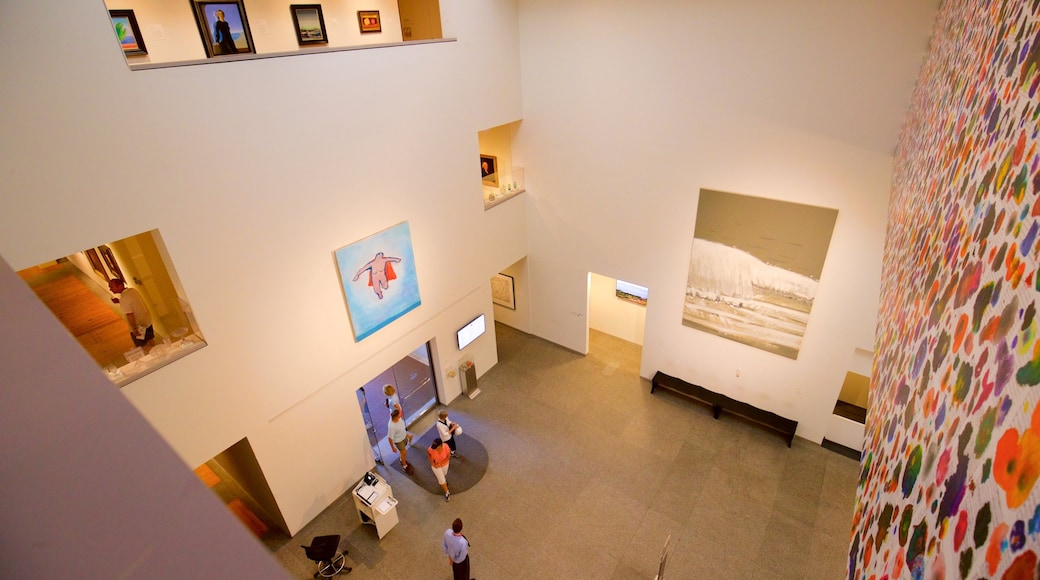 Portland Museum of Art showing interior views and art as well as a small group of people