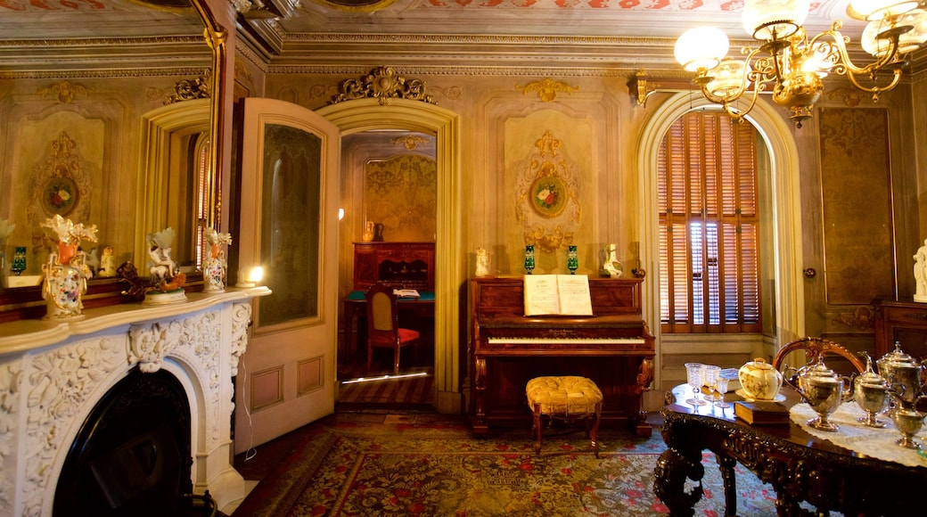 Victoria Mansion featuring a house, heritage elements and interior views
