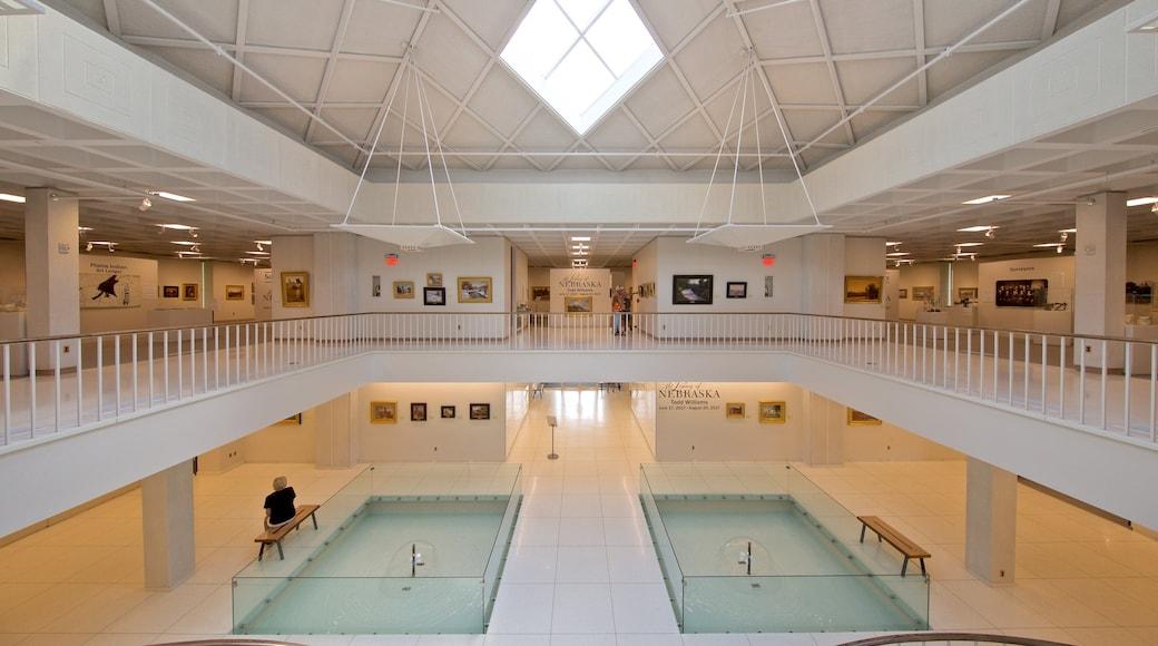 Stuhr Museum of the Prairie Pioneer featuring interior views