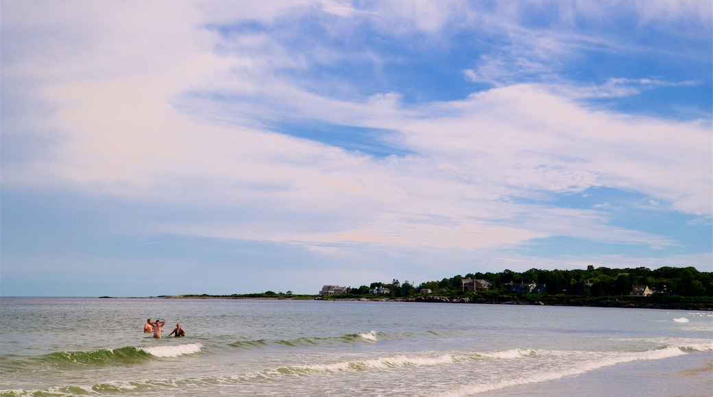 Scarborough Beach State Park featuring general coastal views and swimming as well as a small group of people