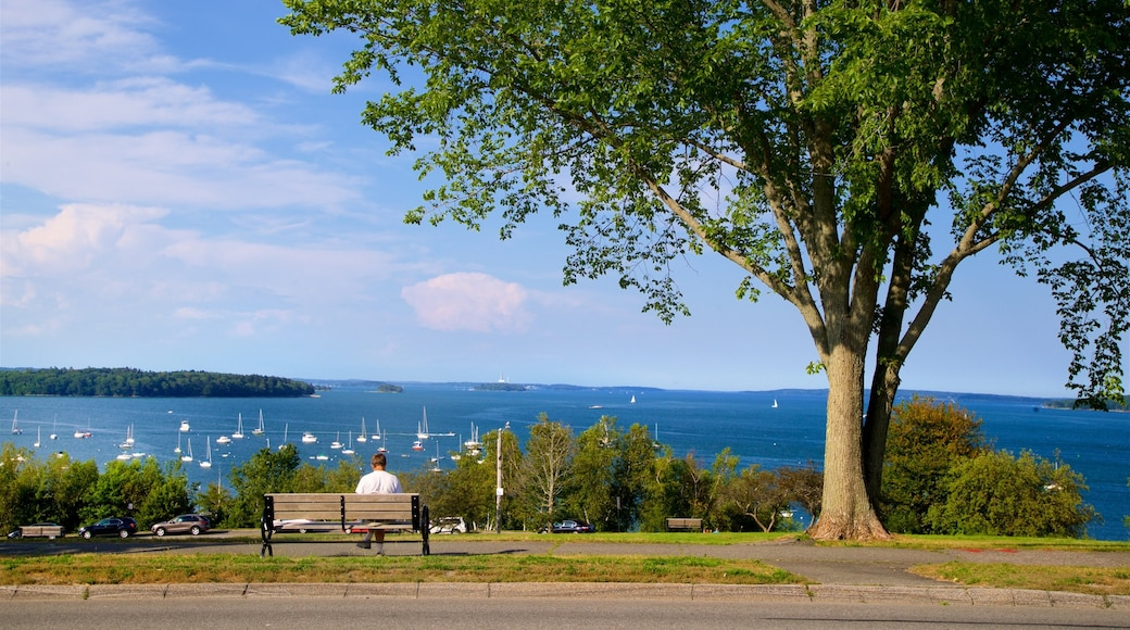 Eastern Promenade which includes a park and general coastal views as well as an individual male