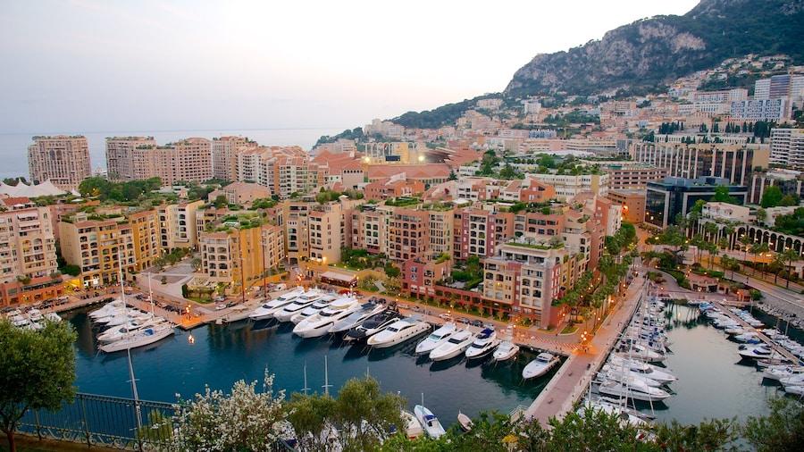 摩納哥 呈现出 海灣或海港, 綜覽海岸風景 和 海邊城市