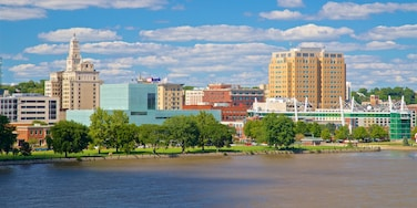 Davenport featuring a city and a river or creek