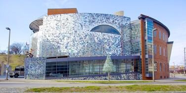 American Visionary Art Museum mostrando arte e uma cidade