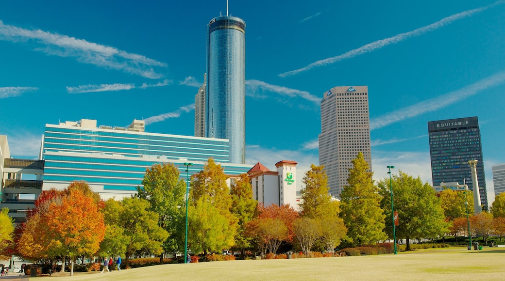 Centennial Olympic Park featuring a park, landscape views and a city