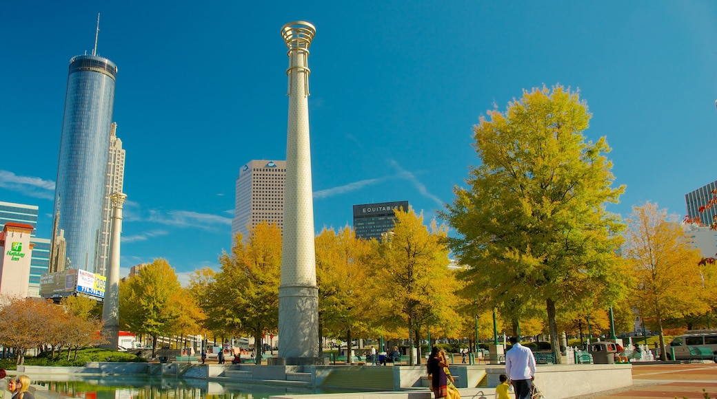 Centennial Olympic Park which includes a city, a park and a monument