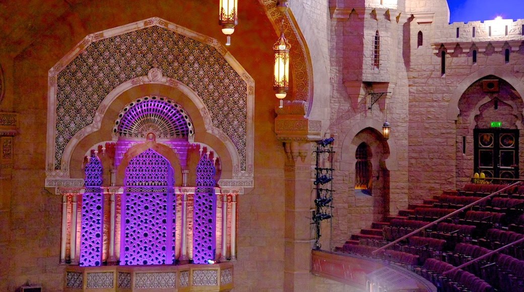 Fox Theatre showing interior views, theater scenes and performance art