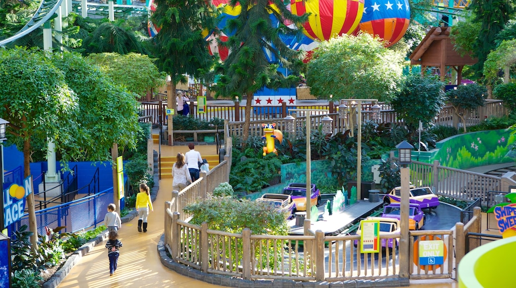 Nickelodeon Universe which includes rides as well as a family