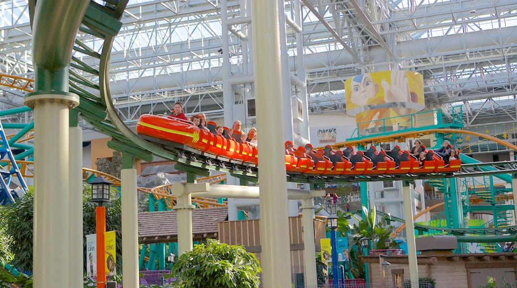 Nickelodeon Universe which includes interior views and rides