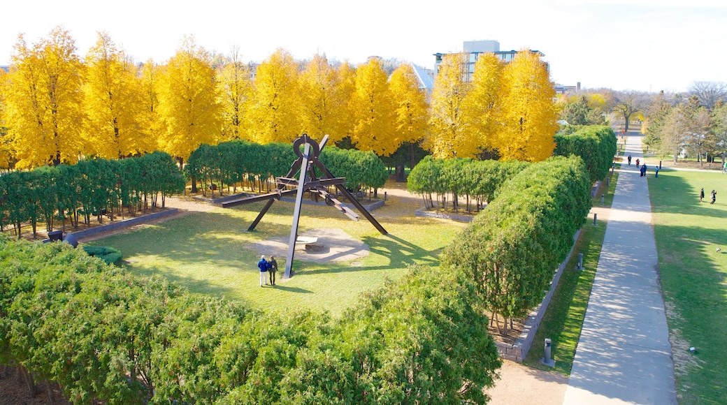 Walker Art Center featuring fall colors, landscape views and art