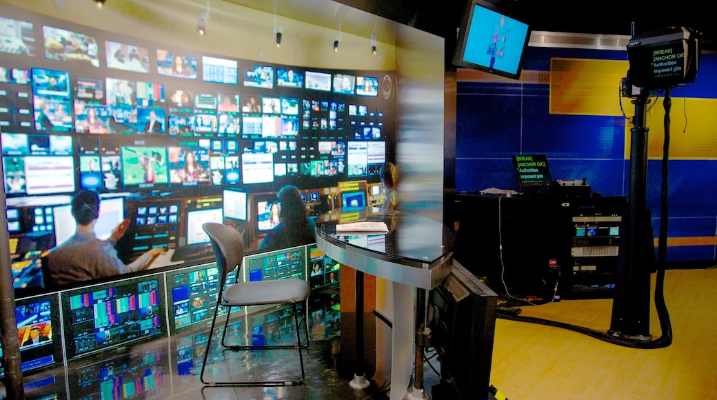 CNN Center showing interior views and cbd