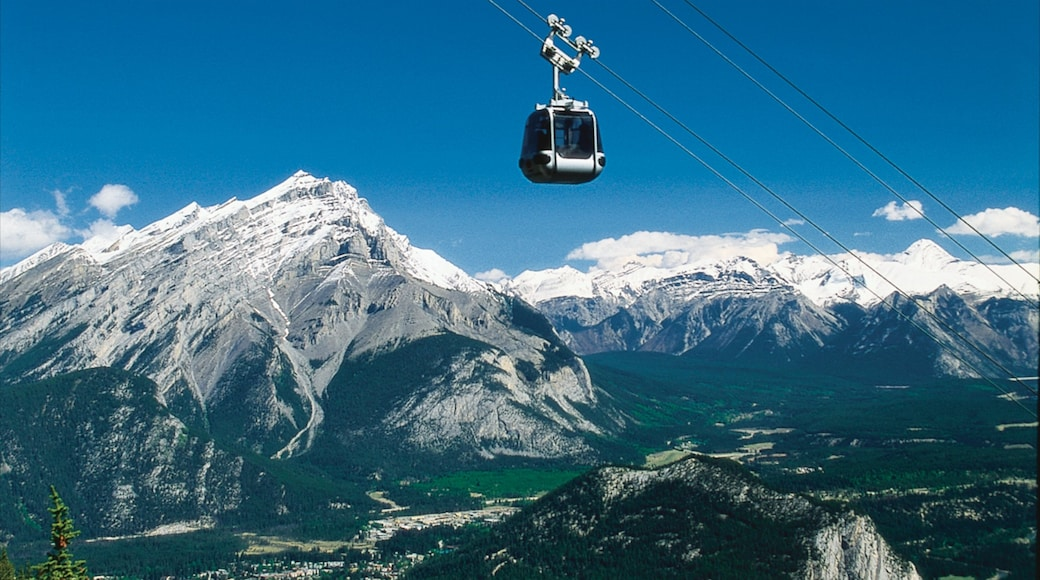 Banff Gondola which includes mountains, landscape views and snow