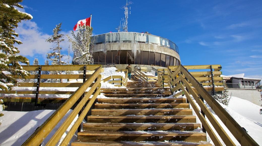 Banff Gondola featuring snow and a gondola