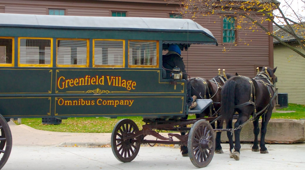 Greenfield Village showing signage
