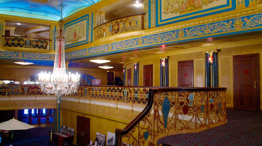Detroit Opera House showing theater scenes and interior views