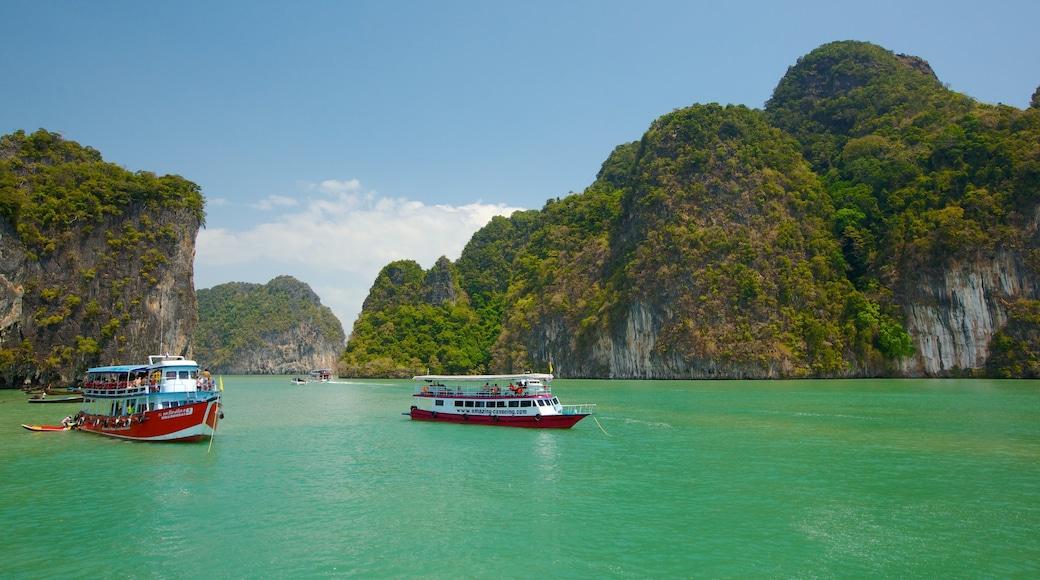 Ao Phang Ngan kansallispuisto featuring yleiset rantanäkymät, veneily ja maisemat