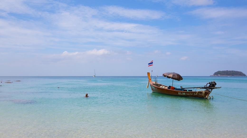 หาดกะตะน้อย ซึ่งรวมถึง อ่าวหรือท่าเรือ, การพายเรือ และ ชายฝั่งทะเล