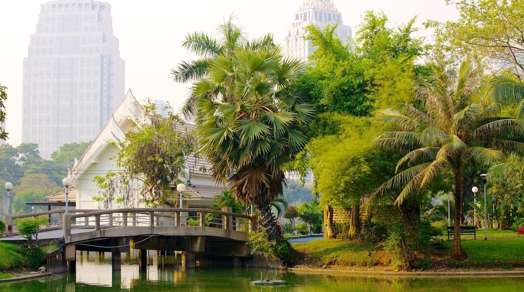 สวนลุมพินี เนื้อเรื่องที่ สวนสาธารณะ, สะพาน และ เมือง