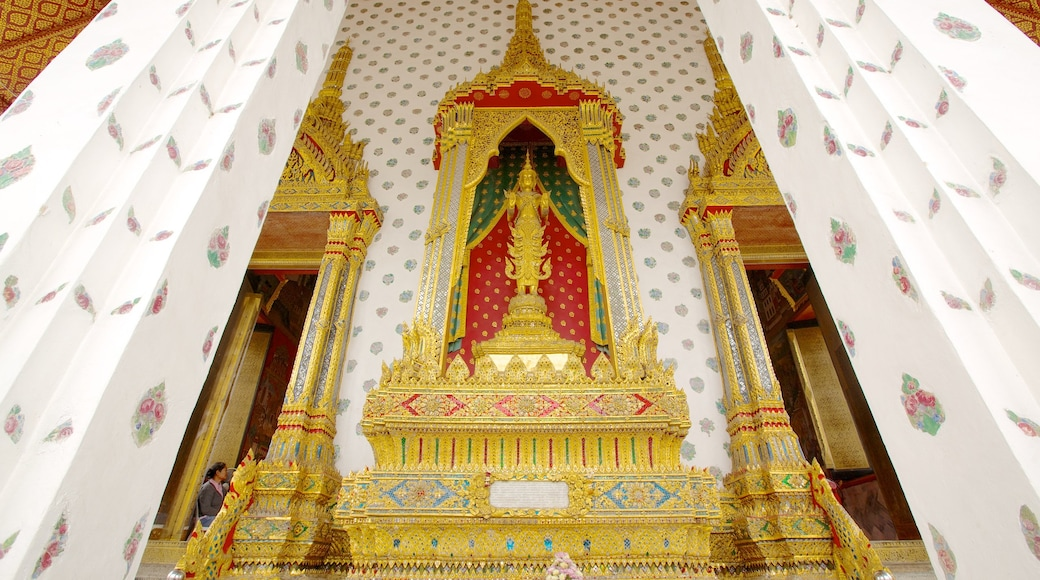 Wat Arun featuring a temple or place of worship, interior views and religious aspects