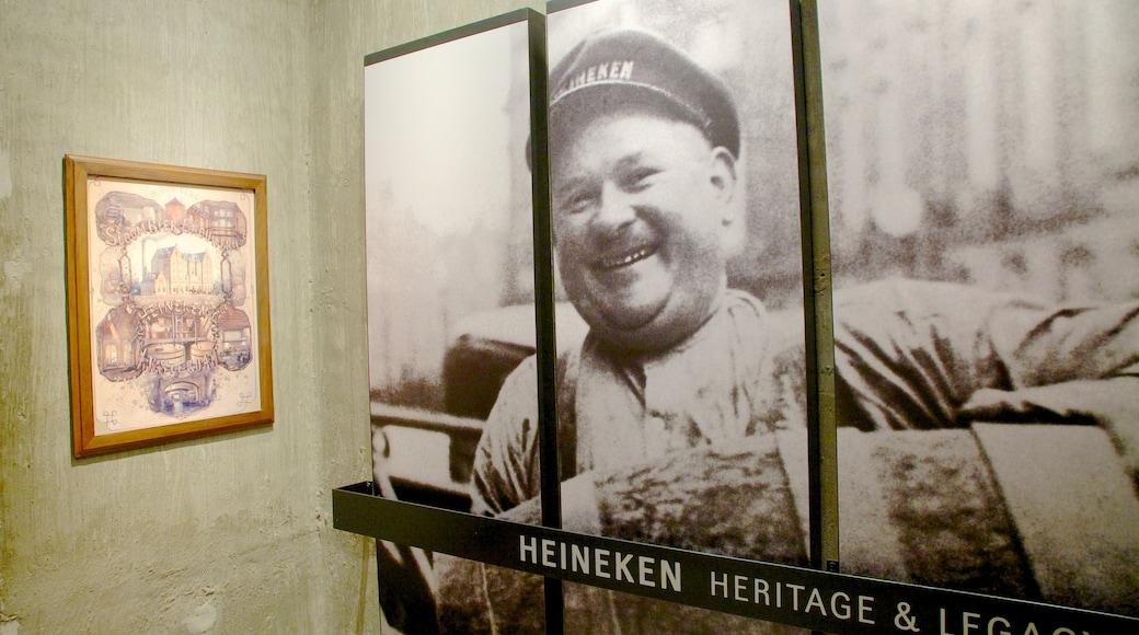Heineken Experience mostrando vistas interiores