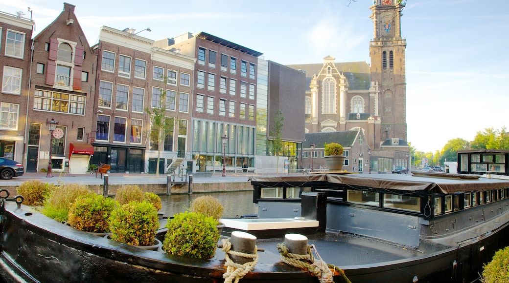 Anne Frank House featuring a river or creek, a house and heritage architecture